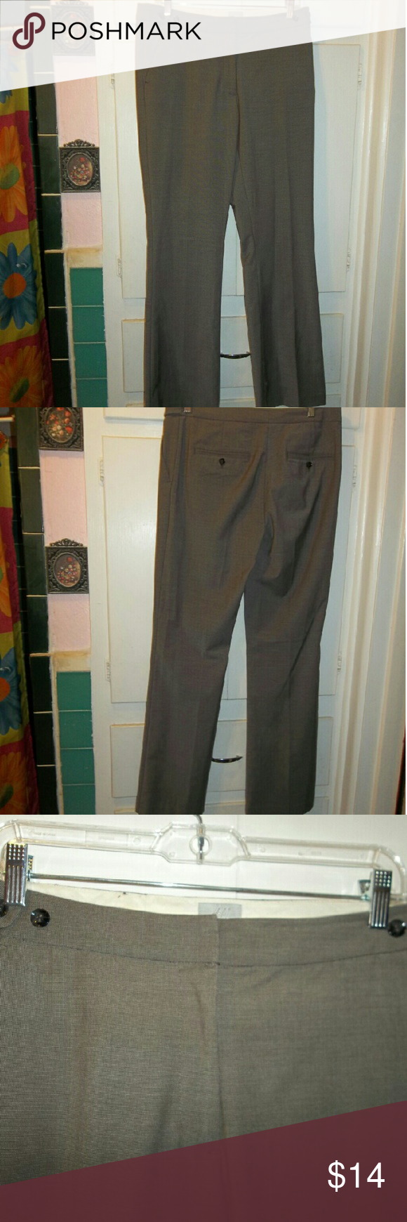 H&M Grey Slacks H&M Grey Slacks  Form-fitting work trousers Grey with light pin stripe pattern Two pockets in the back Gently used, and in good condition  **MAKE ME AN OFFER IF INTERESTED** H&M Pants Trousers