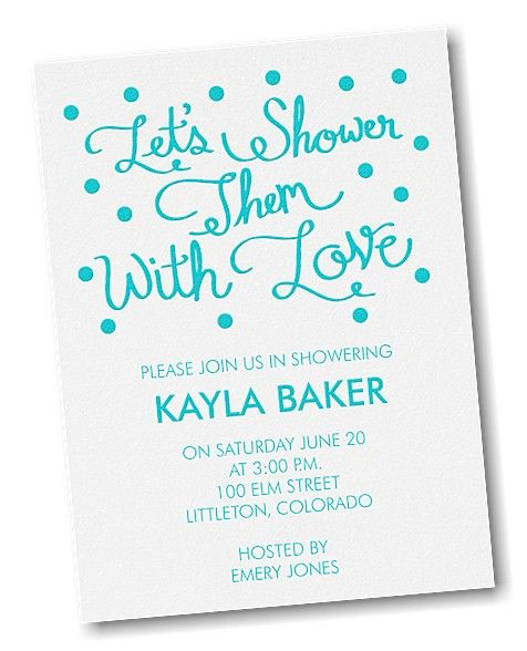 Showered in Love Bridal Shower Invitation