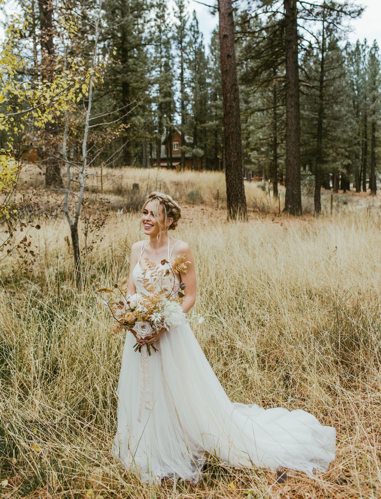 Modern + Edgy Forest Wedding in Northern California | Bhldn wedding ...