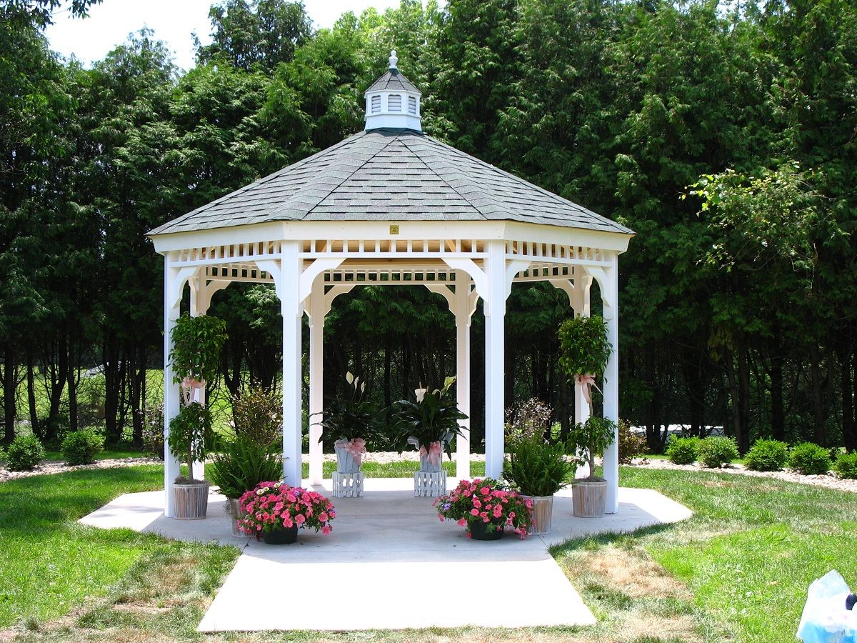 White gazebos are not just for weddings they really are a for Garden gazebo designs plans