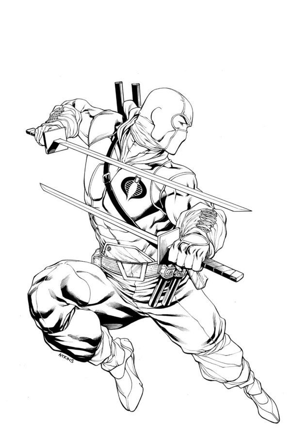 Storm Shadow Snake Eyes Cover 13 By Robertatkins Carvings - snake eyes coloring pages