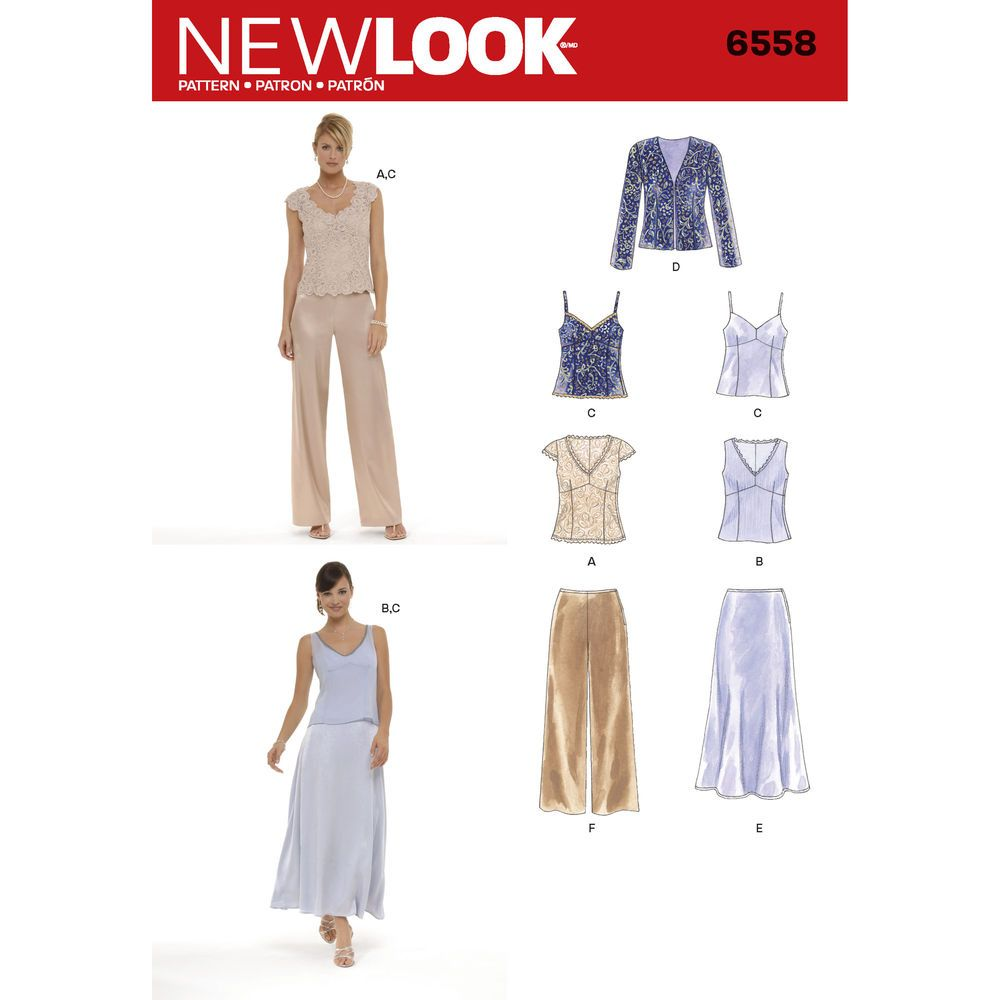 Misses special occasion top, camisole, jacket, skirt and pants. New ...