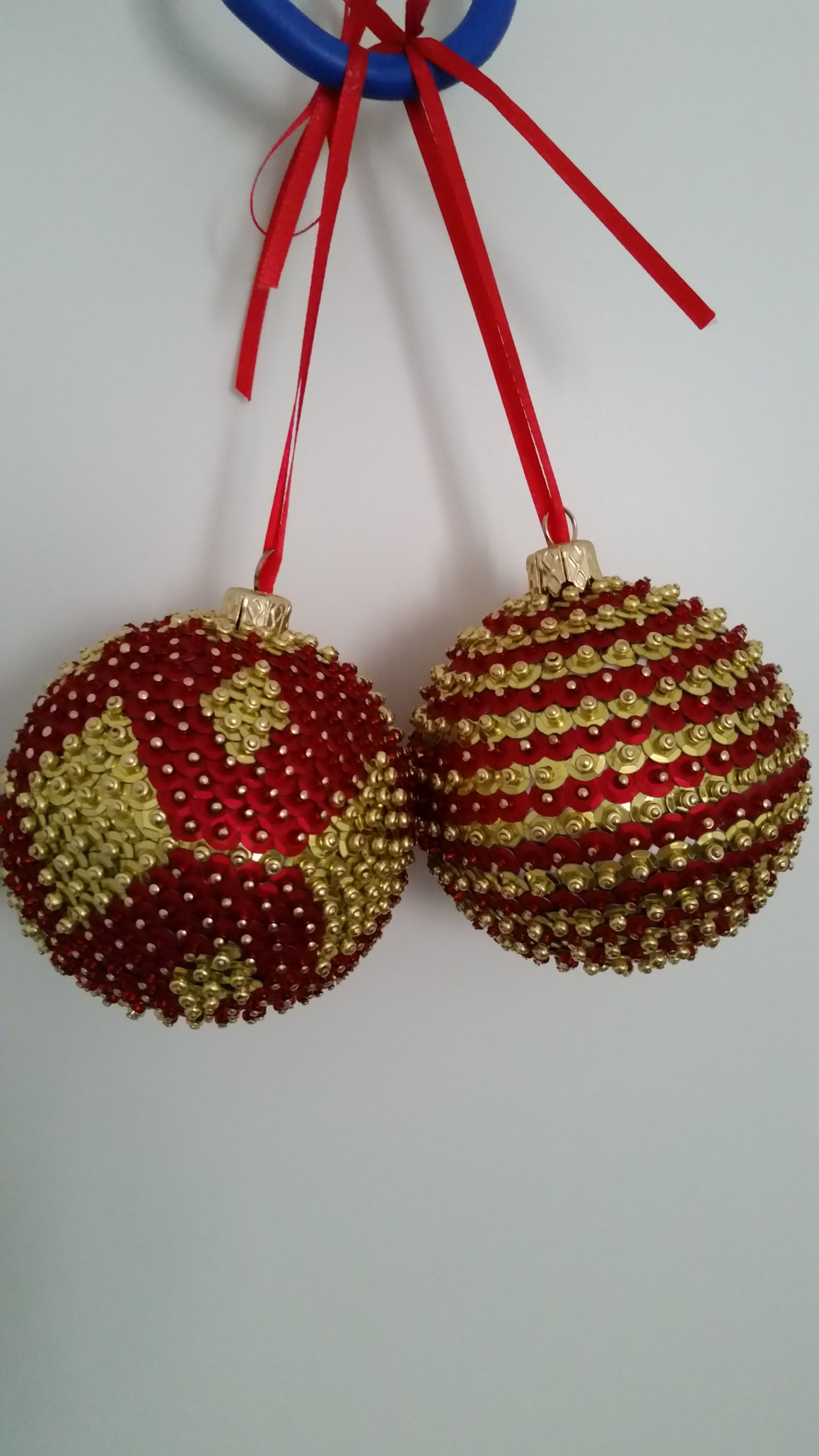 Sequin Ornaments, Beaded Christmas Ornaments, Christmas Balls, Christmas Tree, Christmas