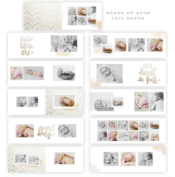 Oh Snap Boutique Albums Words Of Love 8x12 Whcc Album Foto Bayi Kolase