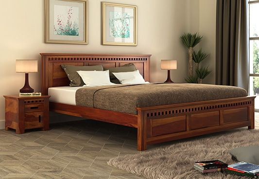 Best Buy Adolph Sheehsam Wood King Size Bed Without Storage In 400 x 300
