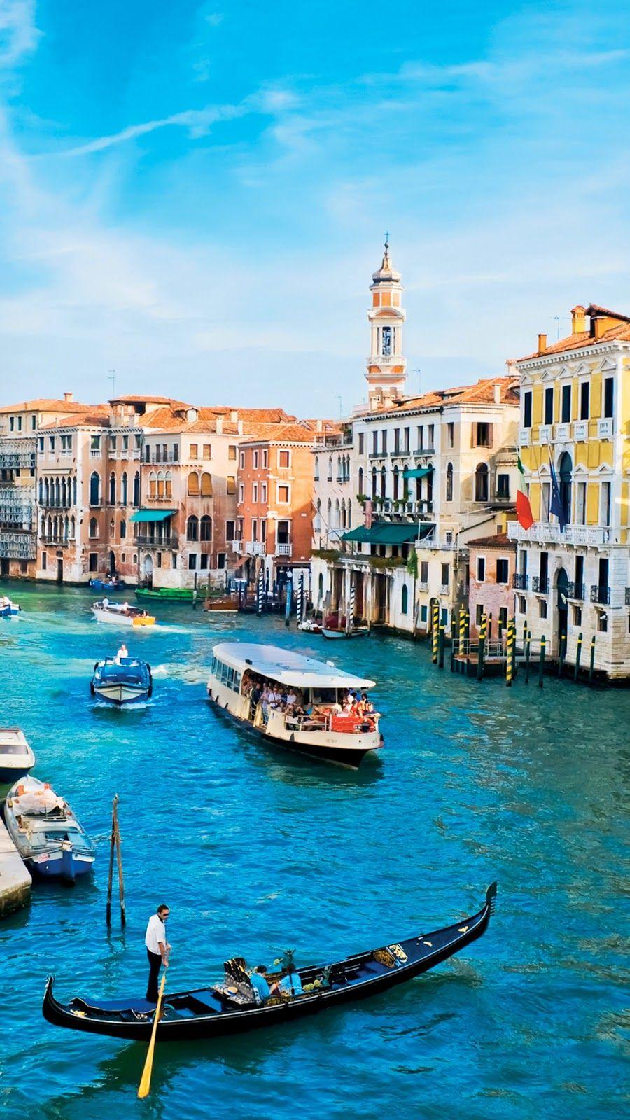 Venice City Mobile Wallpaper Gondola Italy Venice Wallpaper Venice City Venice Photography
