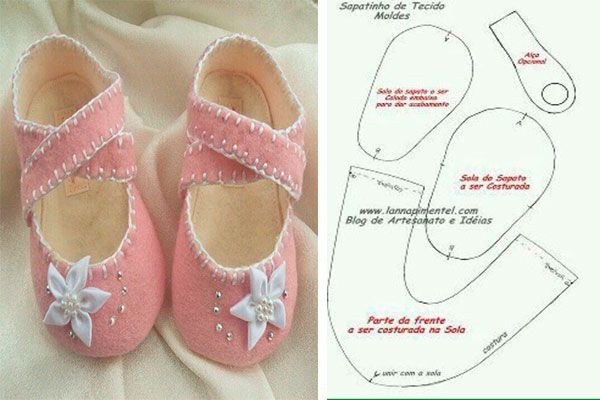 Mode de Sapatinhos em feltro para bebê | Sapatos de feltro