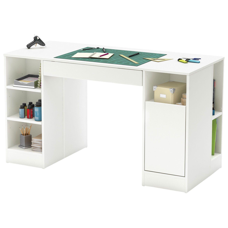 Pupitre Contemporain Crea Blanc Pur Bureaux Et Postes De Travail Best Buy Canada Craft Table South Shore Furniture Furniture