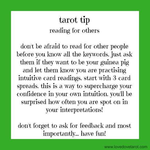 Tarot Tip Reading For Others Love Dove Tarot Tarot Tips
