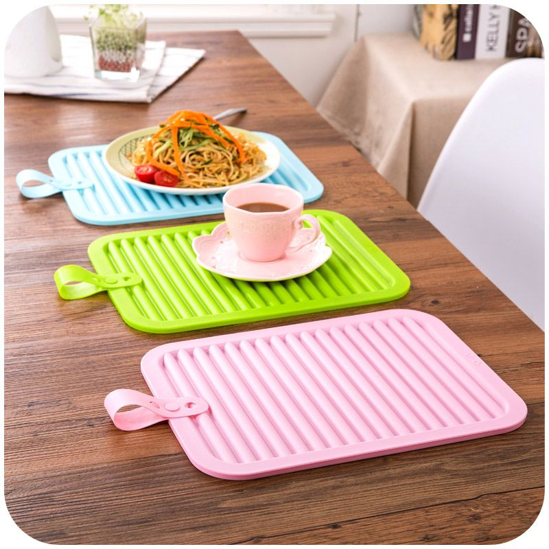 Large Insulation Mat Silicone Heat Pad Dining Table Pot Holder Coasters Bowl Anti Hot Affiliate