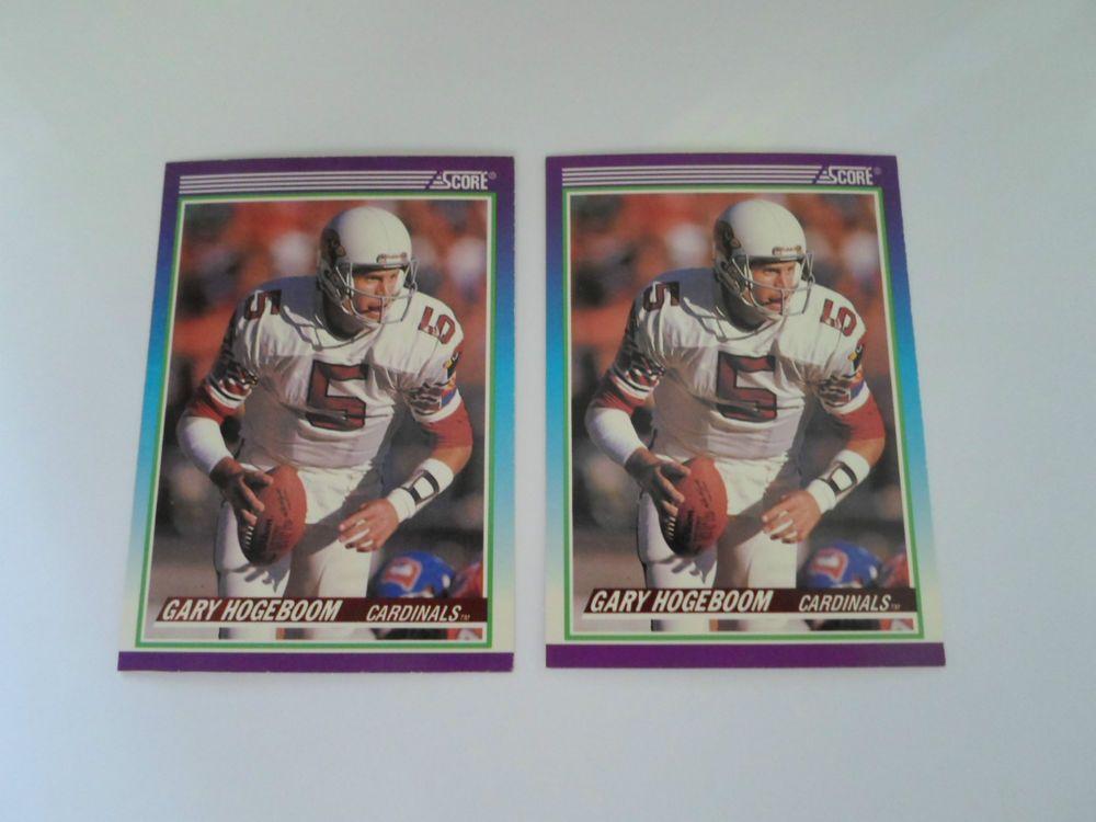 1990 SCORE BASE GARY HOGEBOOM # 529 ( 3 CARD LOT ) #ArizonaCardinals