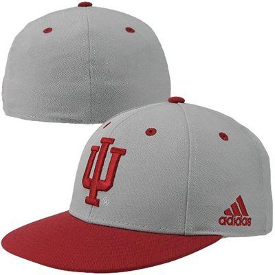 a41aaca28bb adidas Indiana Hoosiers On-Field Fitted Hat - Gray Crimson