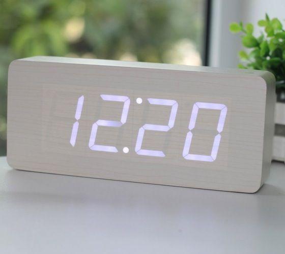 Wood Grain Led Alarm Clock Alarm Clock Minimalist Alarm Clock
