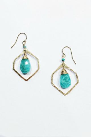 Amazonite Earrings - EcoVibe Apparel - Turquoise