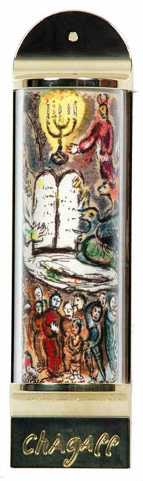 Images of Limited Edition Marc Chagall Mezuzah - Ten Commandments