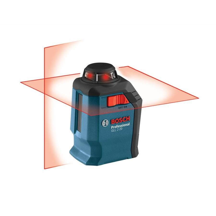 Bosch 65 Ft Red Beam Self Leveling Cross Line 360 Laser Level With Case Gll 2 20 In 2020 Red Beam Ceiling Installation Bosch Tools