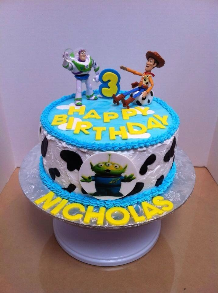 Toy Story Cake Buttercream Frosted With Fondant Decorations And