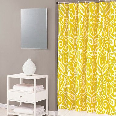 Guest Bath If Purple Walls Yellow Shower Curtain Also Available