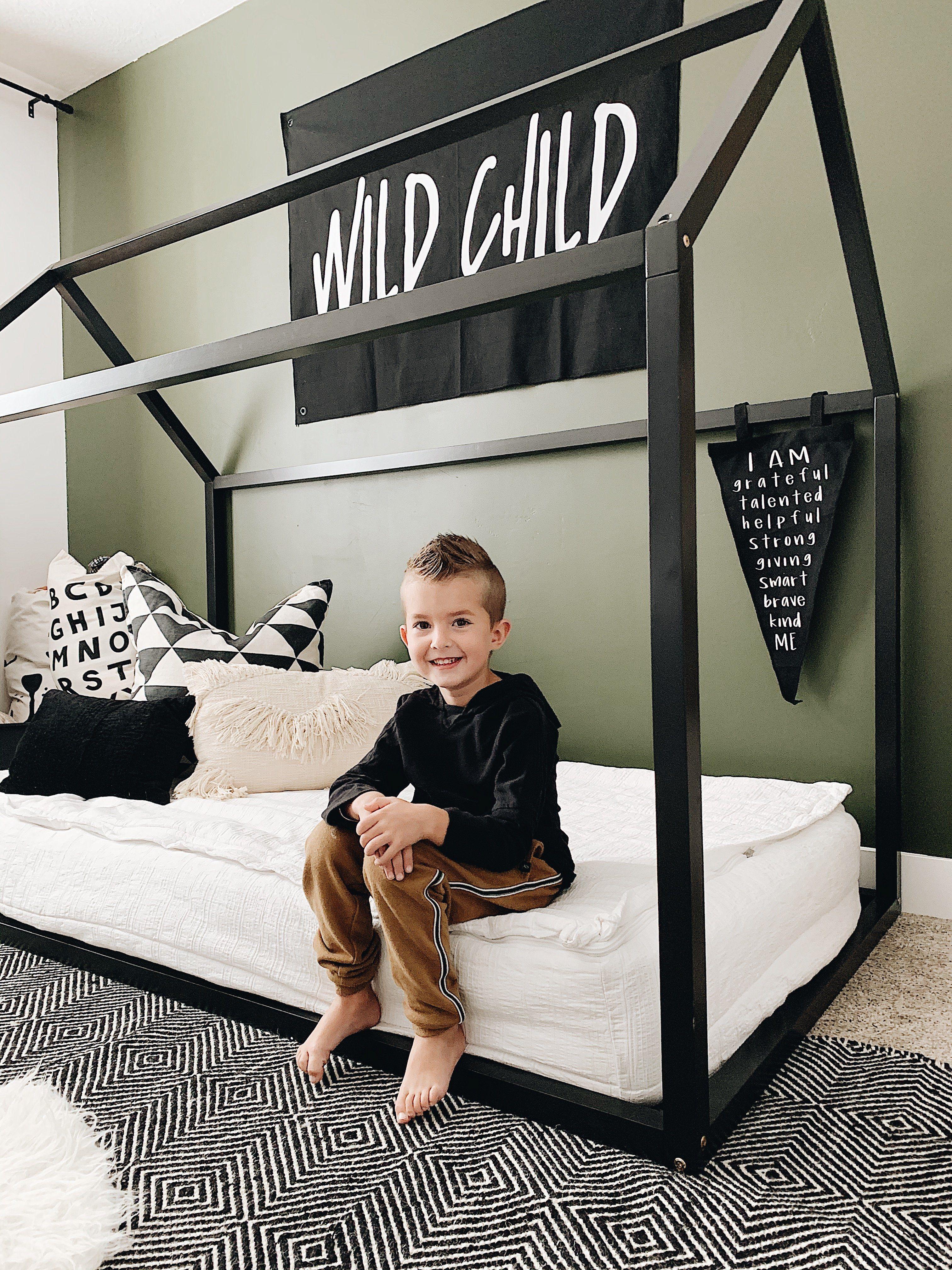 Wild Child - Black Canvas Flag