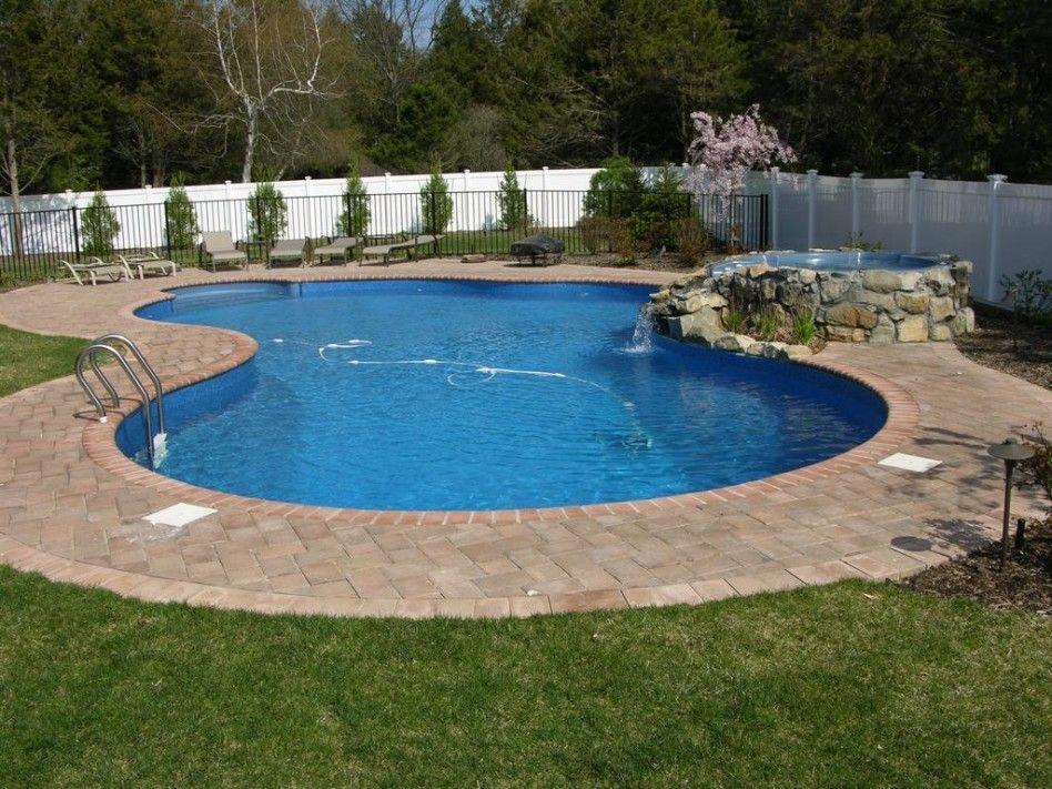 Swimming Pool Cool Kidney Shaped Inground Swimming Pool Designs for