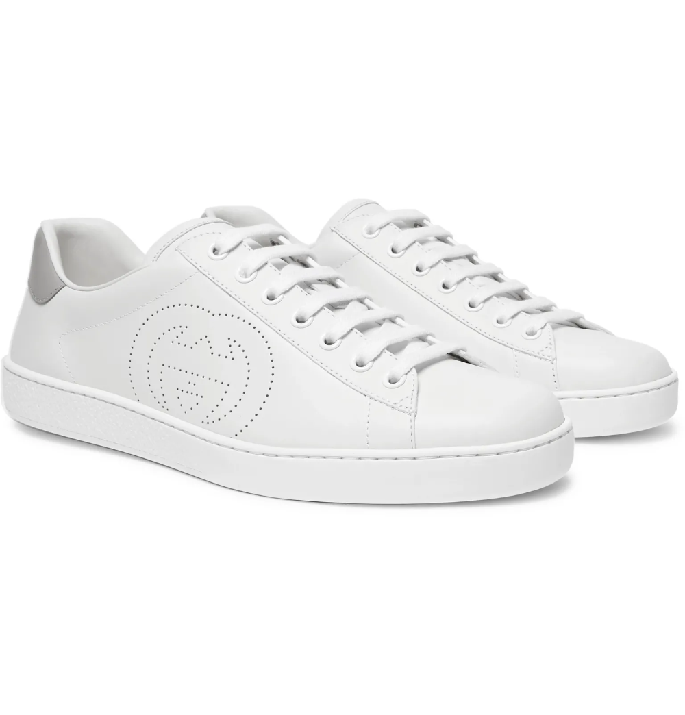 White gucci shoes, Leather sneakers men