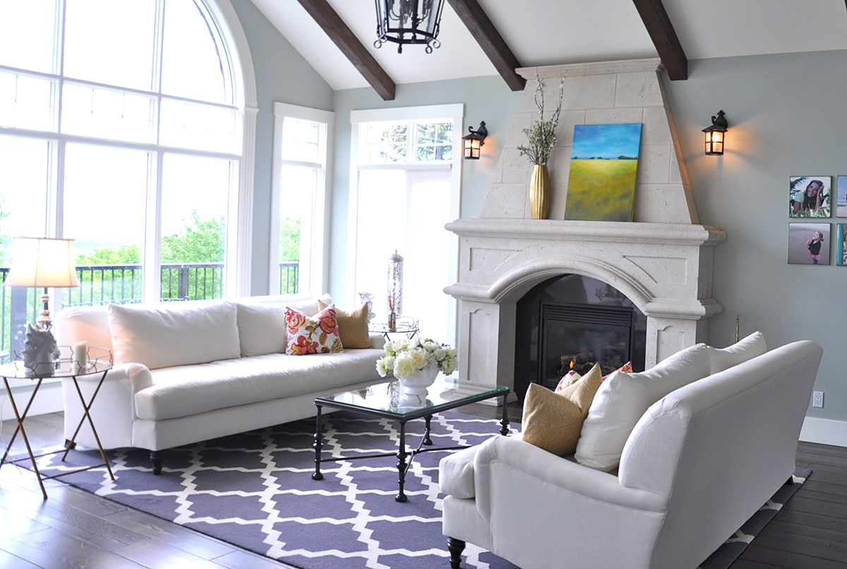 Living Room Design: A Refresh in Alberta with Pottery Barn Carlisle ...