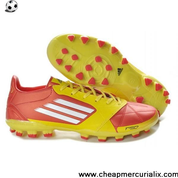 36f0e0768fa Latest Listing Discount adidas F50 adizero TRX AG Leather Micoach Bundle in  red yellow white Football Boots On Sale