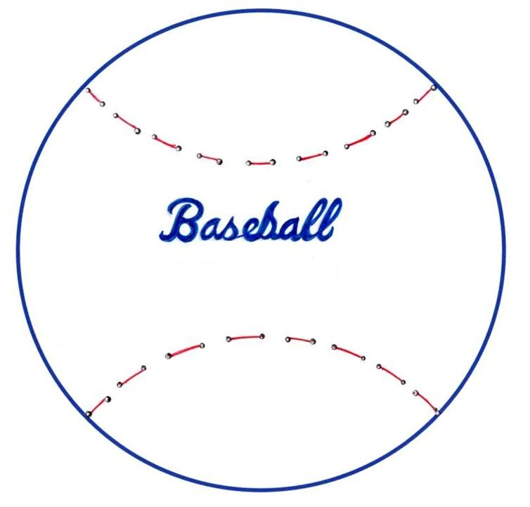 Baseball+Sewing+Templatebmp (754×722) cake decorations - baseball roster template
