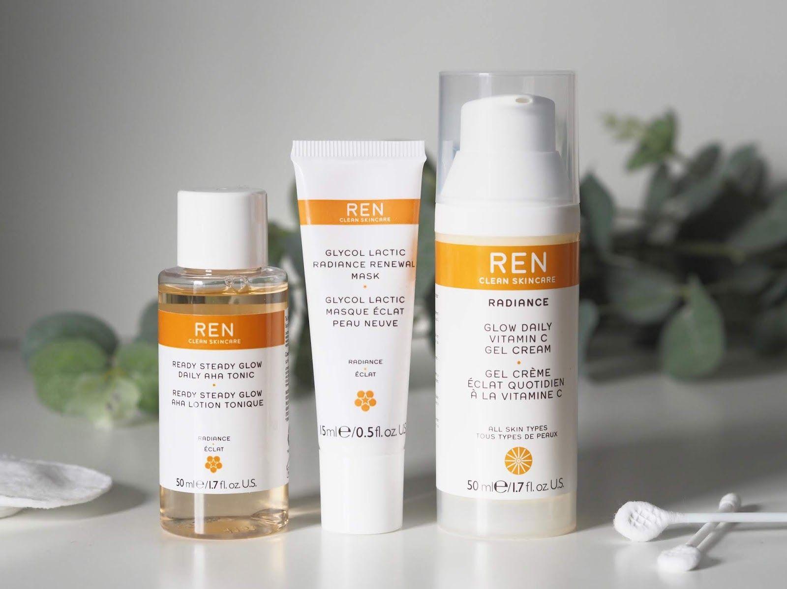 Ren Clean Skincare Glow Daily Vitamin C Gel Cream Review Ready Steady Glow Aha Tonic Glycol Lactic Radiance Renewal Mask Gel Cream Gel Daily Vitamins