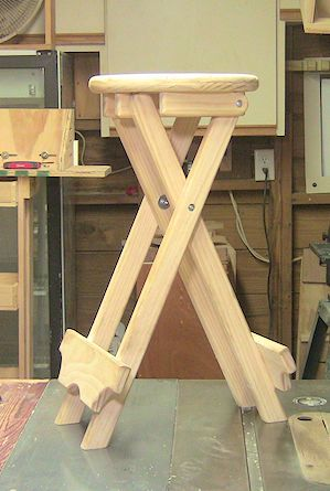 How To Build A Folding Stool By Woodjedintraining