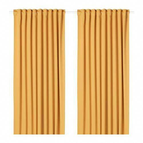 Majgull Blackout Curtains 1 Pair Yellow 57x98 Ikea Bestblackoutcurtainsforbedroomsandlivingroo Room Darkening Curtains Blackout Curtains Cool Curtains