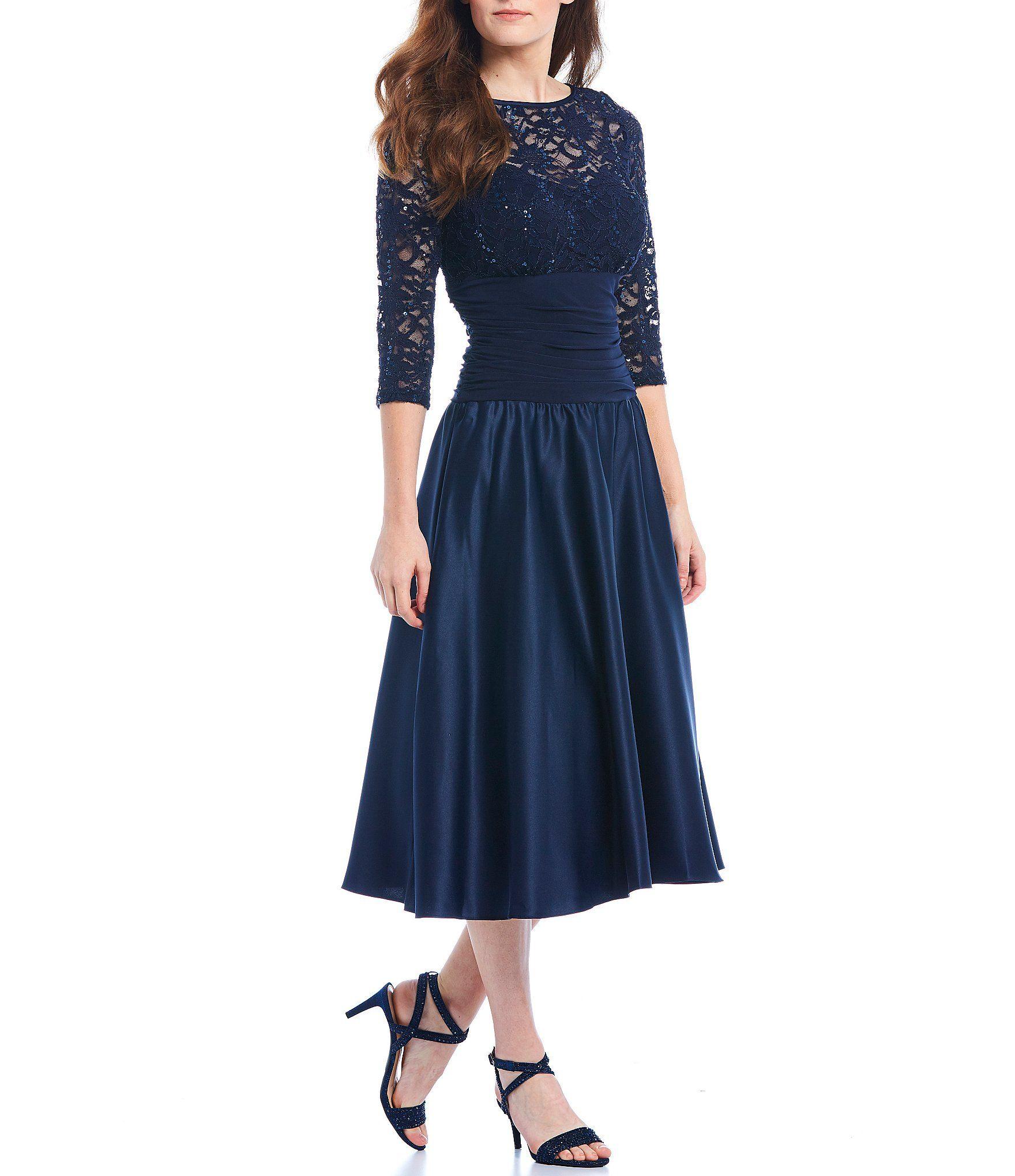 Dillards Wedding Gifts: Jessica Howard Illusion Ruched Waist Midi Dress