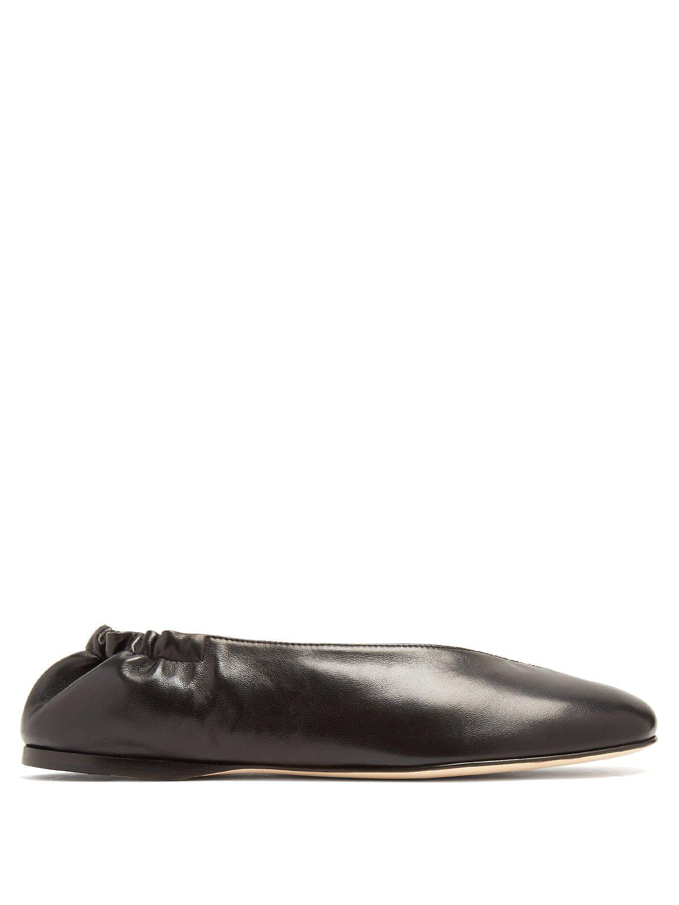 b016ef336075 Oddry elasticated-heel leather ballet flats