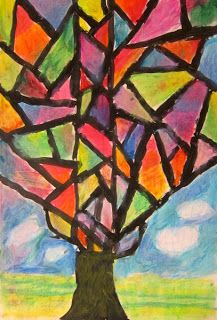 Abstract Oil Pastel Trees-- 4th/5th grade | Oil pastel ...