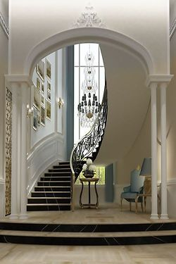 Good So Much Here......tucked Away Curved Staircase, Long Tall