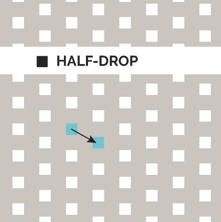 Definition Half Drop Pattern Method Com Drops Patterns
