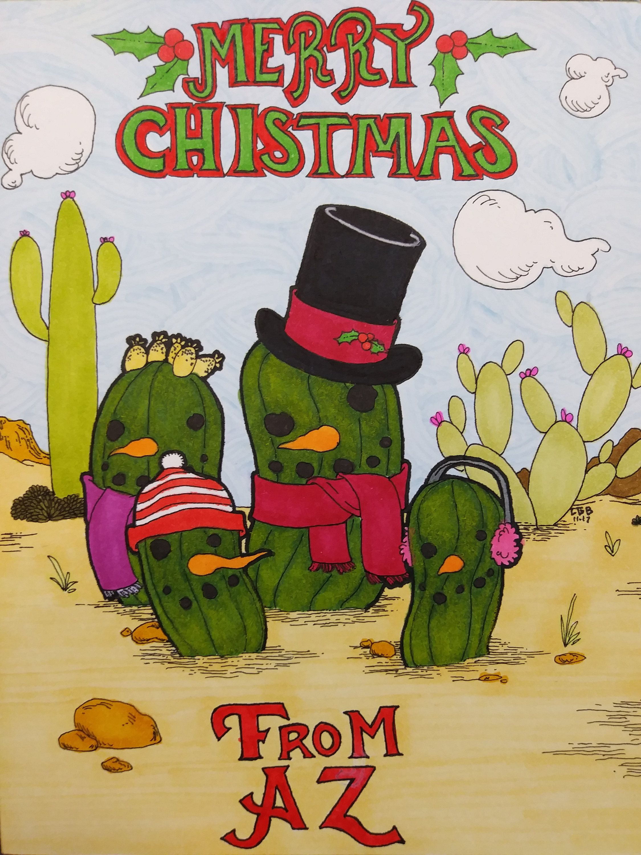 Merry Christmas from Arizona Greeting Cards with Envelopes set of 5 ...
