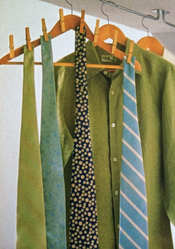 Idea para colgar corbatas