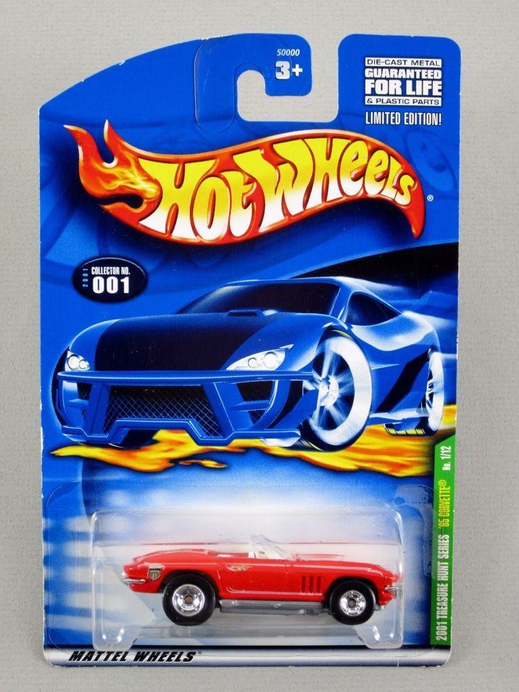 Hot Wheels 65 Corvette Convertible With Real Riders 2001 Treasure
