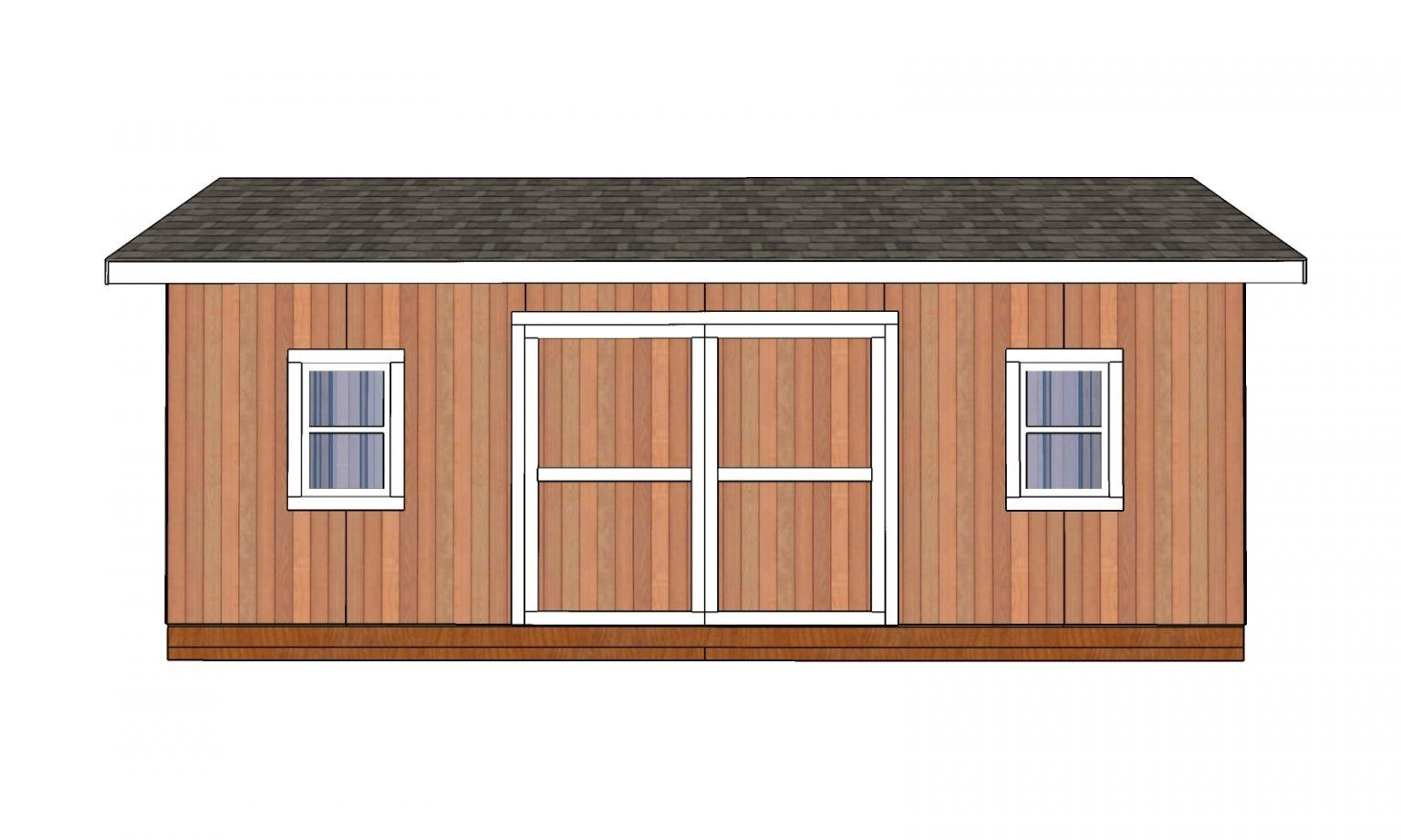 12x24 Shed Plans Free Diy Plans Howtospecialist How To Build Step By Step Diy Plans In 2020 Shed Plans 12x24 Shed Shed
