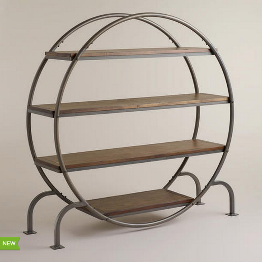 COST PLUS WORLD MARKET ROUND BOOKCASE. Saw this there! So creative & cute!