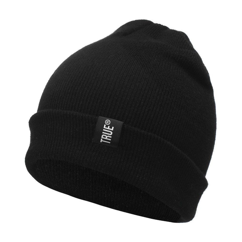 93c1b966d Letter True Casual Beanies for Men Women Fashion Knitted Winter Hat ...