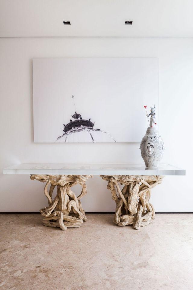 Abstrakte kunst dekoration wand design ideen tisch glasplatte ns haus