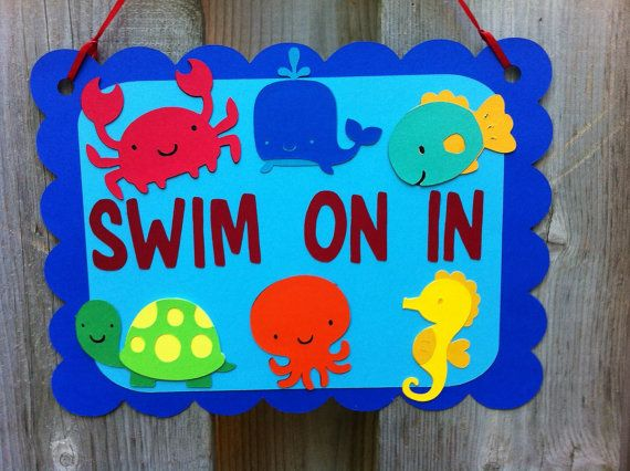 Under The Sea Theme Door Sign Sea Life Party Decorations First