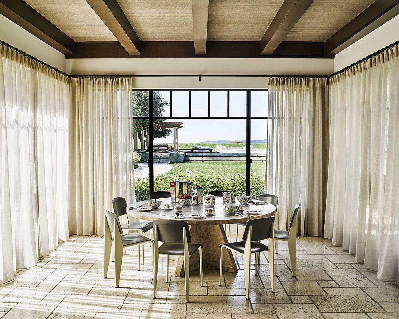 Kourtney Kardashian's breakfast nook. Design by Martyn ...