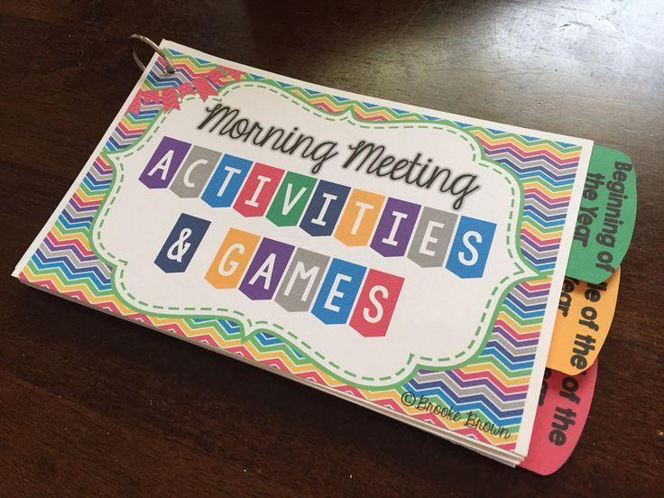 Morning Meeting Activities & Games Morning meeting