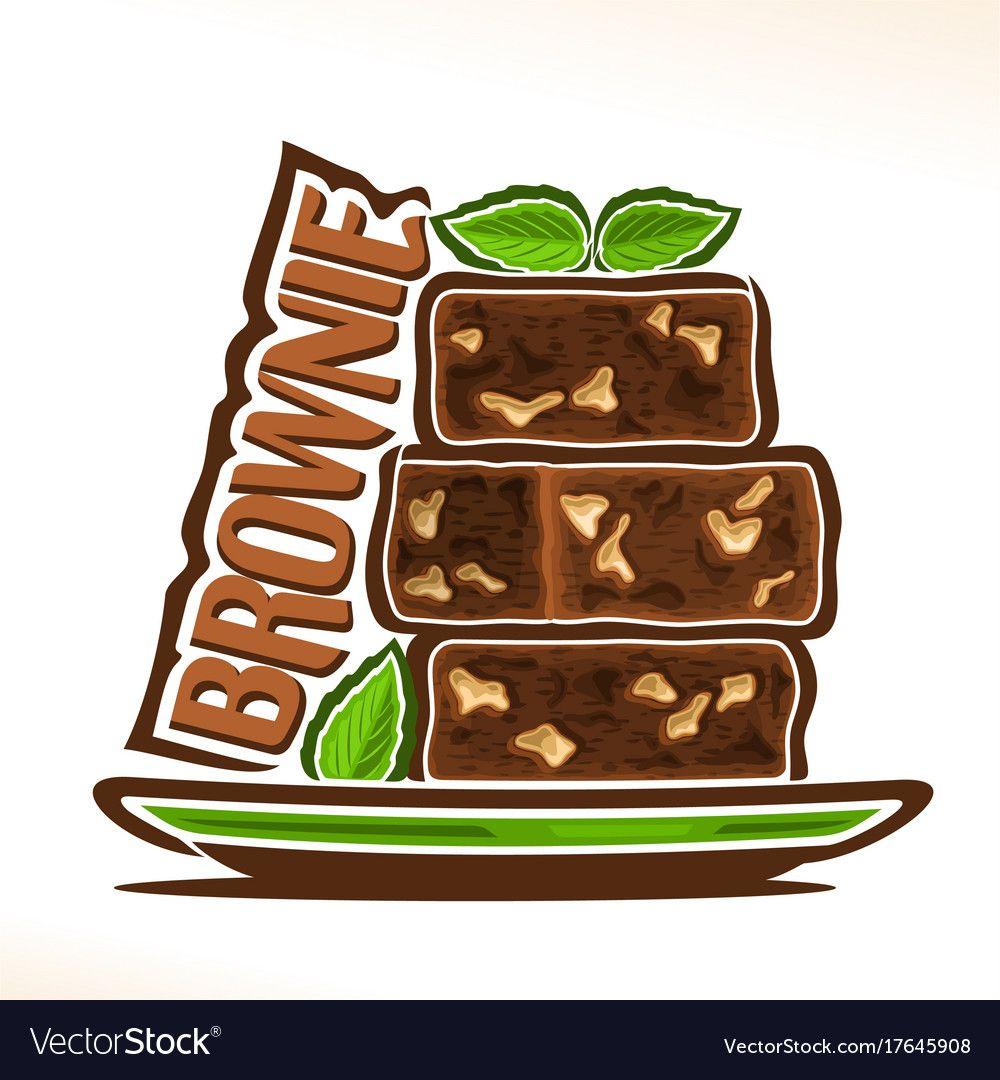 Logo For Brownie Royalty Free Vector Image Vectorstock Bakery Logo Design Brownie Shop Brownie