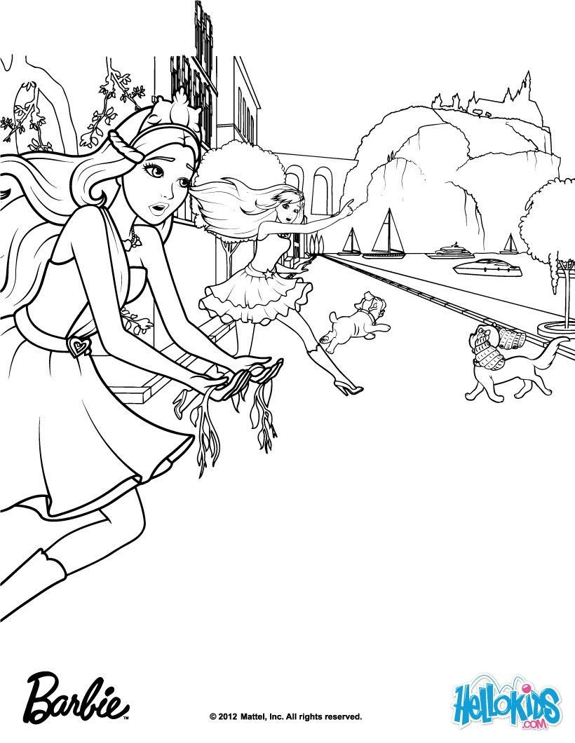 Power Of The Diamond Gardenia Decreases Barbie Coloring Page More