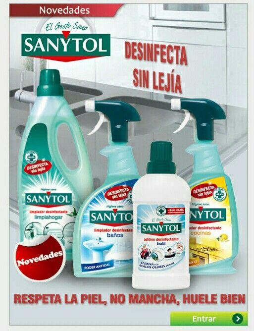 Productos Sanytol Desinfecta Sin Lejía Al Mejor Precio Registrate Gratis Código Invitación 225 Todatuscompras Com Cleaning Supplies Spray Bottle Cleaning