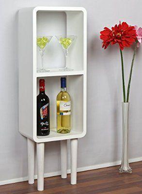 Lounge Regal Design Retro 70er Cube Wohnzimmer Standregal In Weiss